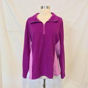 Old Navy Purple Half Zip Up Fleece Jacket Size XL